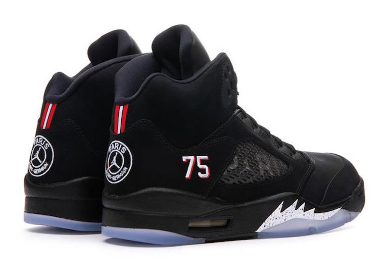 size 40 53550 3cc02 Air Jordan 5 Retro x PSG (BLACK)